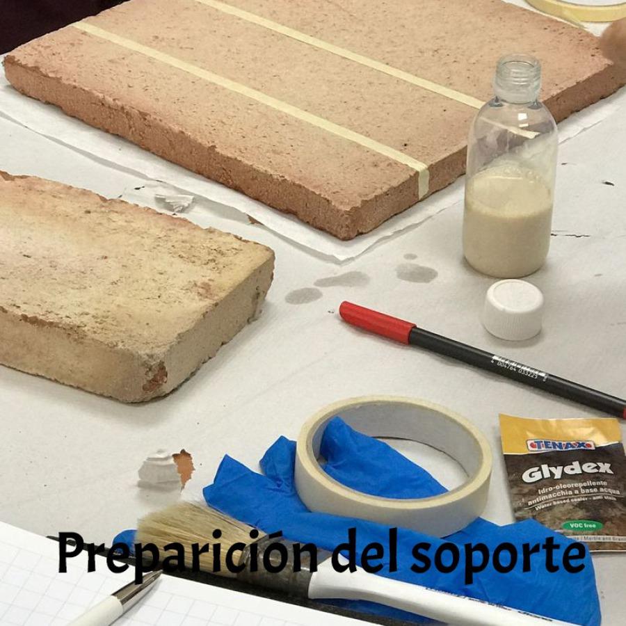 Preparación del soporte